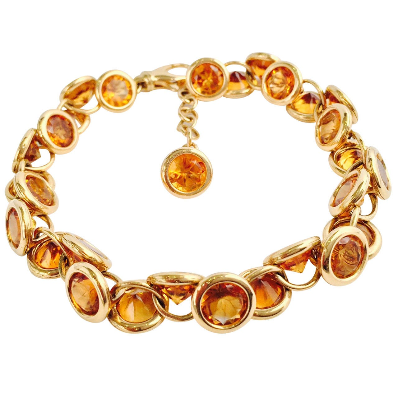 Fasano Citrine Gold Link Bracelet For Sale At 1stdibs