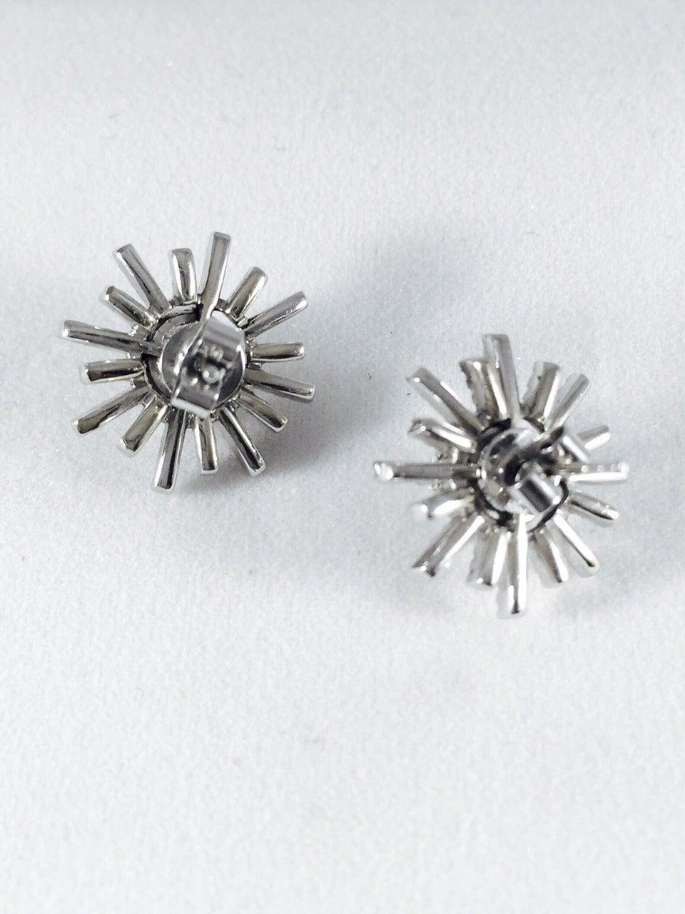 Diamond Gold Starburst Stud Earrings 3