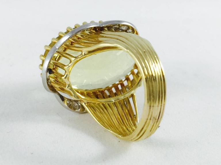 yellow beryl gold ring for sale at 1stdibs
