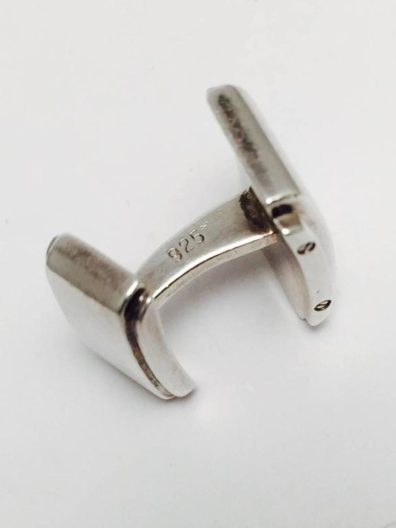 Tiffany And Co Metropolis Sterling Silver Cufflinks For