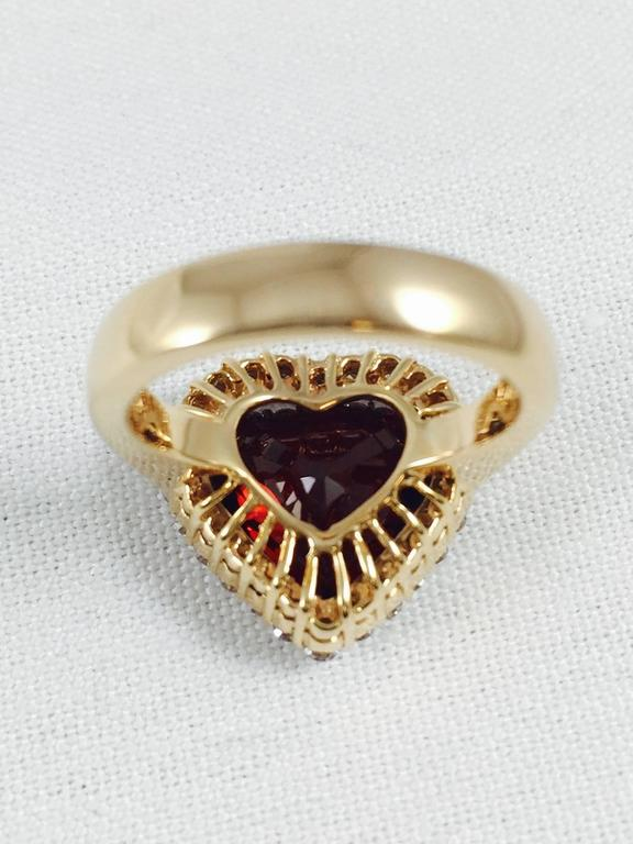 Rare Spessartite Garnet Diamond Gold Ring 4