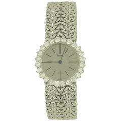 Piaget Lady's White Gold Diamond Bezel Wristwatch