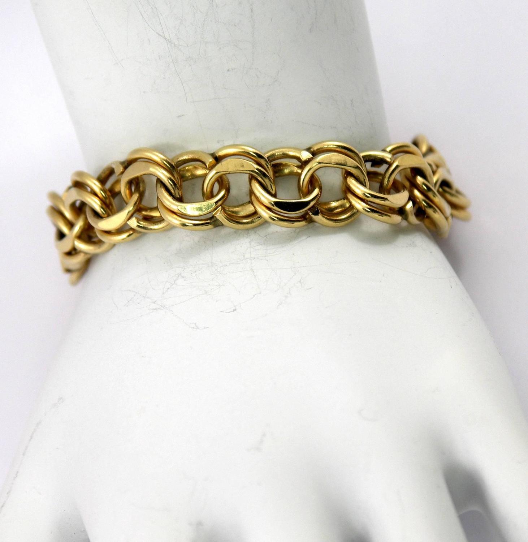 Gold Double Spiral Link Bracelet For Sale At 1stdibs