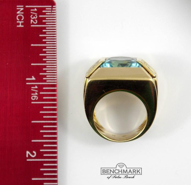 Versace Gold Topaz Diamond Ring For Sale 4