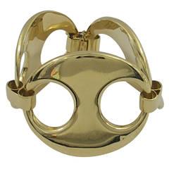 Large Gold Nautical Link Bracelet