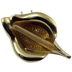 Lee Havens Gold Calla Lily Brooch