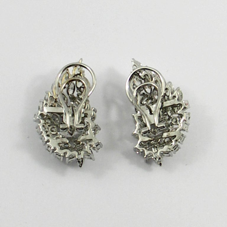 Diamond and White Gold Cocktail Earrings For Sale 2