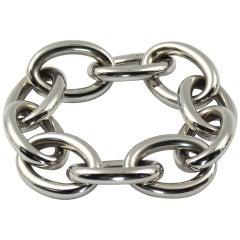 White Gold Cable Link Bracelet