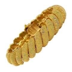 Tiffany Gold Textured San Marco Bracelet
