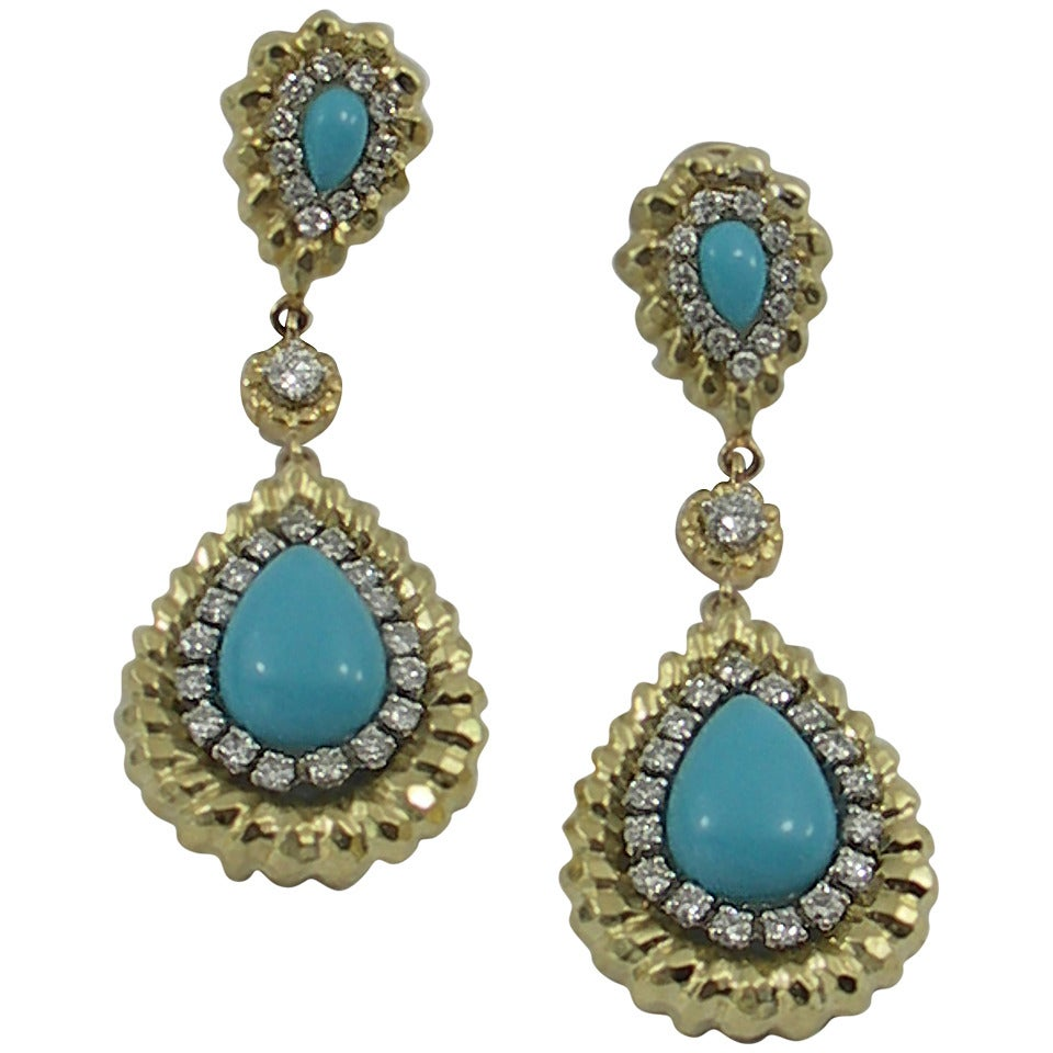 earrings sale turquoise gold drop earrings for sale at 1stdibs 4718