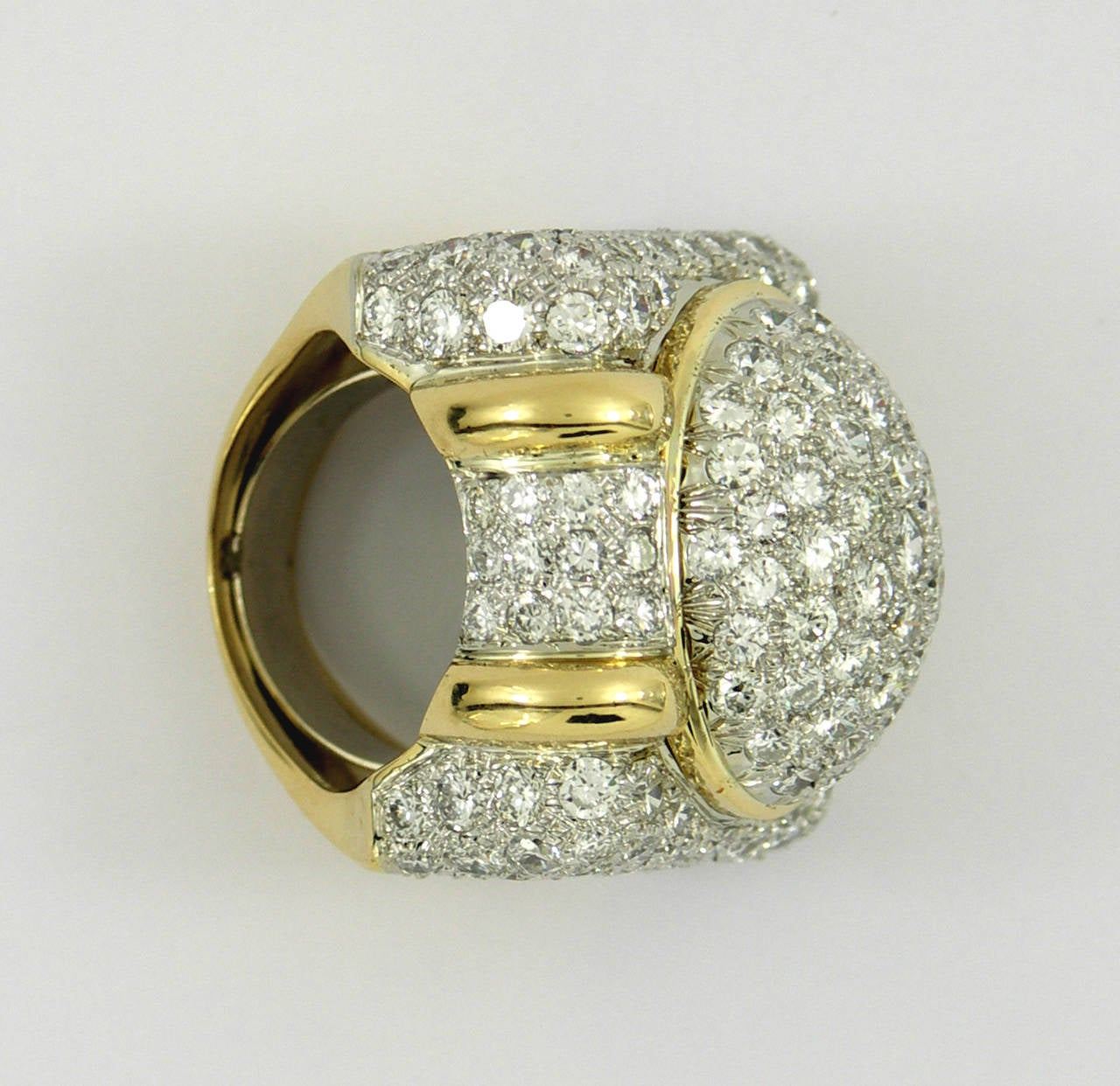 gold platinum dome ring for sale at 1stdibs