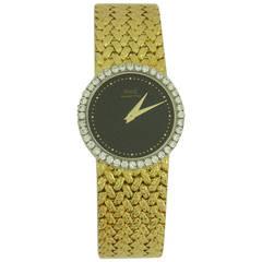 Piaget Lady's Yellow Gold Diamond Bezel Onyx Dial Quartz Wristwatch