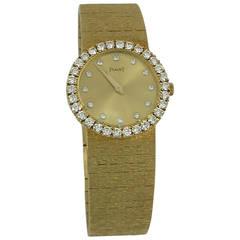 Piaget Lady's Yellow Gold Diamond Wristwatch