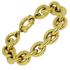 Yellow Gold Cable Link Bracelet