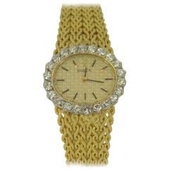 Rolex Lady's Yellow Gold and Diamond Bracelet Watch