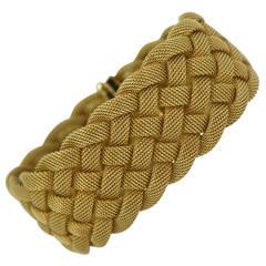 Tiffany & Co. Gold Woven Mesh Bracelet