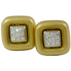 Marlene Stowe Pave Diamond Gold Earrings