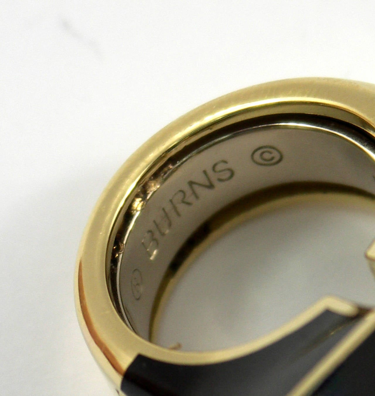 large scale black enamel gold ring for sale at 1stdibs