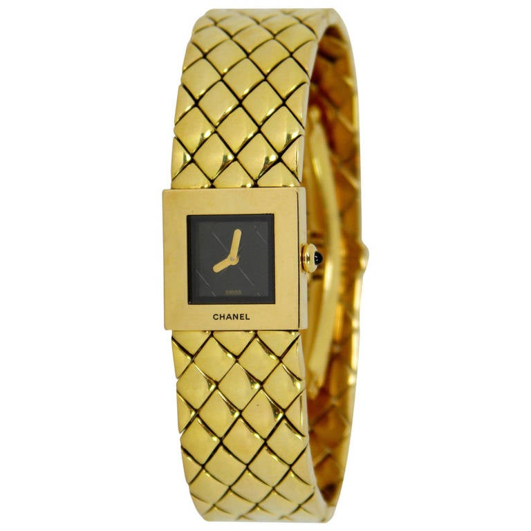 chanel yellow gold bracelet for sale at 1stdibs