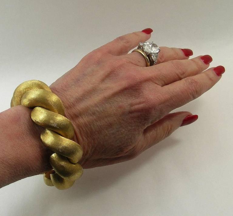 4a8828971c897 Large Link Brushed Finish Gold San Marco Bracelet