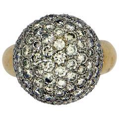 Gold Diamond Pave' Ring