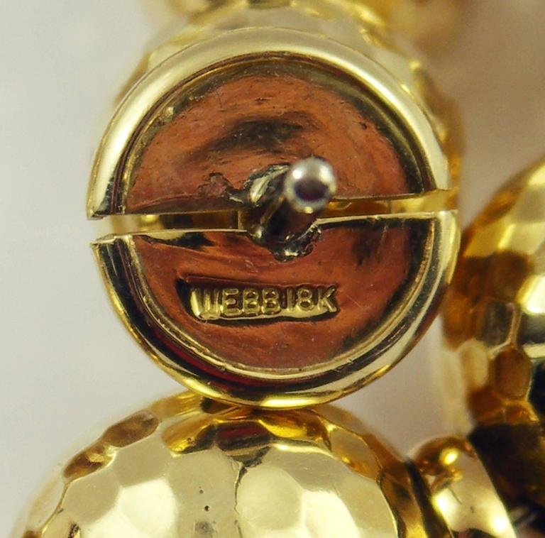 David Webb Hammered Gold Ball Necklace 6
