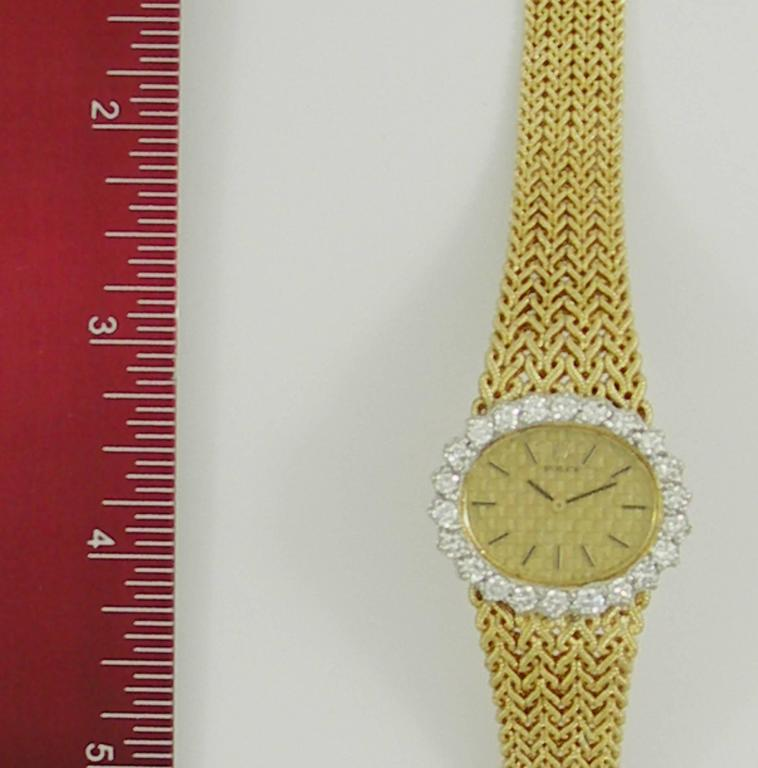 Rolex Ladies Yellow Gold Diamond Bezel Vintage Manual Wind Watch/ Wristwatch For Sale 1