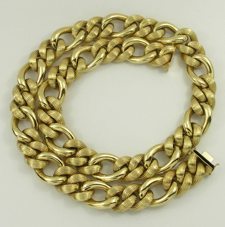 herco jewelry herco gold link necklace for sale at 1stdibs 8739