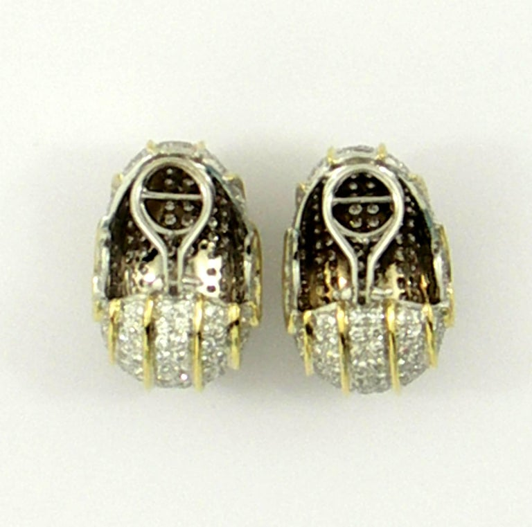 Bombe Gold and Diamond Earrings For Sale 2
