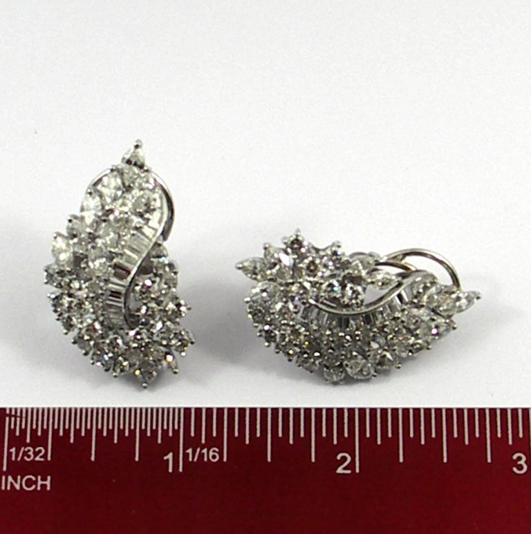 Diamond and White Gold Cocktail Earrings For Sale 3