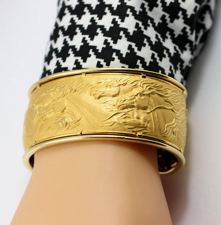 Women's Carrera y Carrera Gold Wild Horse Cuff For Sale