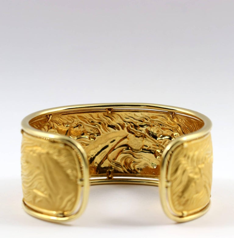 Carrera y Carrera Gold Wild Horse Cuff For Sale 2