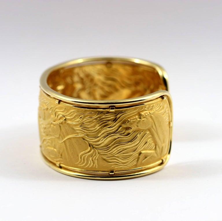 Carrera y Carrera Gold Wild Horse Cuff For Sale 1