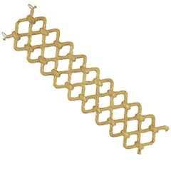Tishman and Lipp Double Link Gold Bracelet