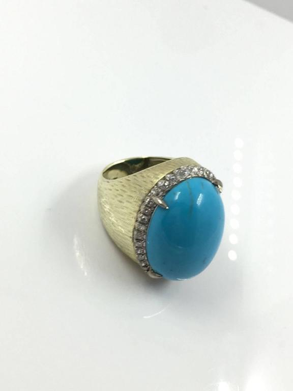 42 carat turquoise gold ring at 1stdibs