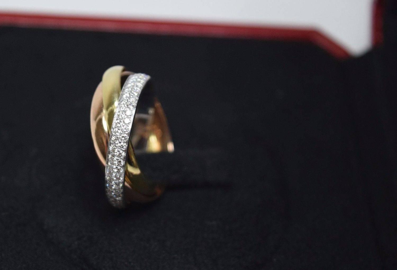 Cartier Trinity De Cartier Diamond Three Color Gold Ring