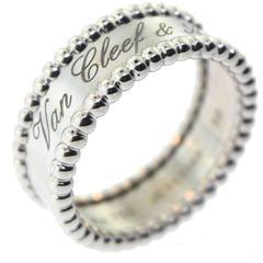 Van Cleef & Arpels Perlée Signature White Gold Ring