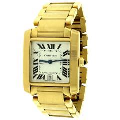 Cartier Tank Française 1840 Yellow Gold Large Ladies Wristwatch