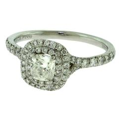 Tiffany & Co. Soleste 1.02 Carat Diamond Platinum Engagement Ring