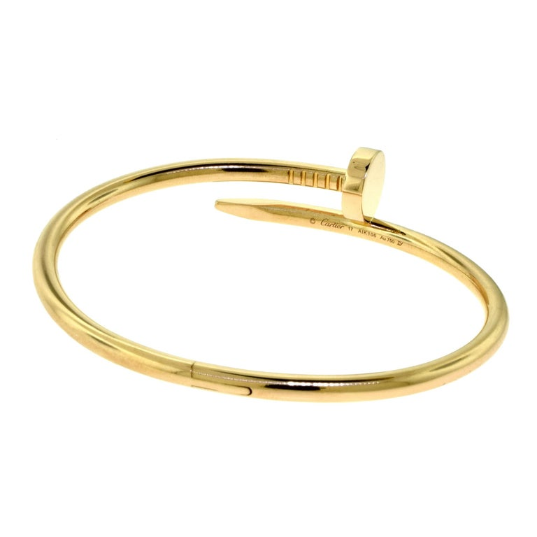 "Cartier Juste Un Clou ""Nail"" Bracelet in 18 Karat Rose ..."