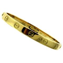 Cartier 18 Karat Yellow Gold Love Bracelet Bangle