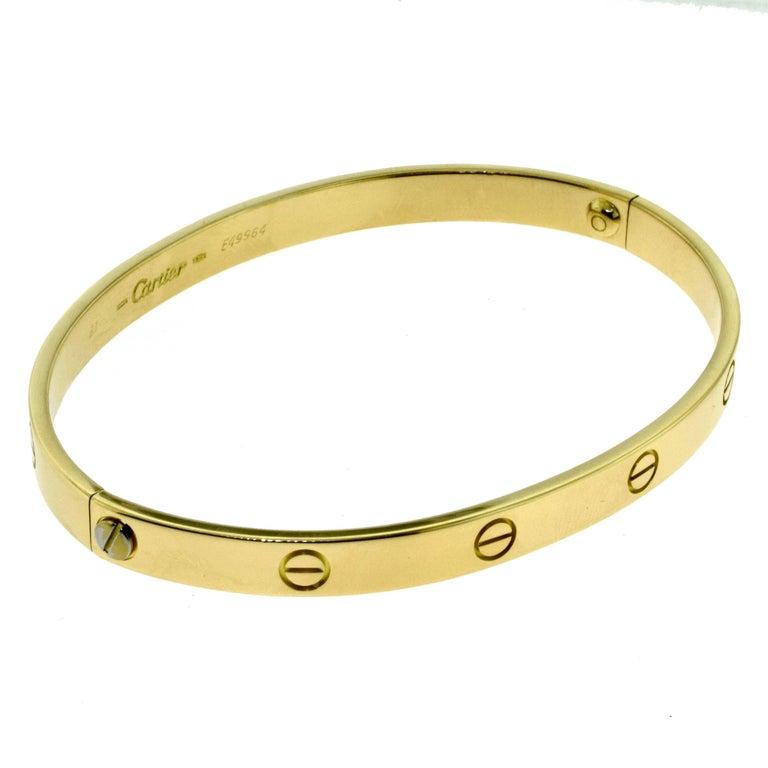 Cartier Love Bracelet in 18 Karat Yellow Gold 2