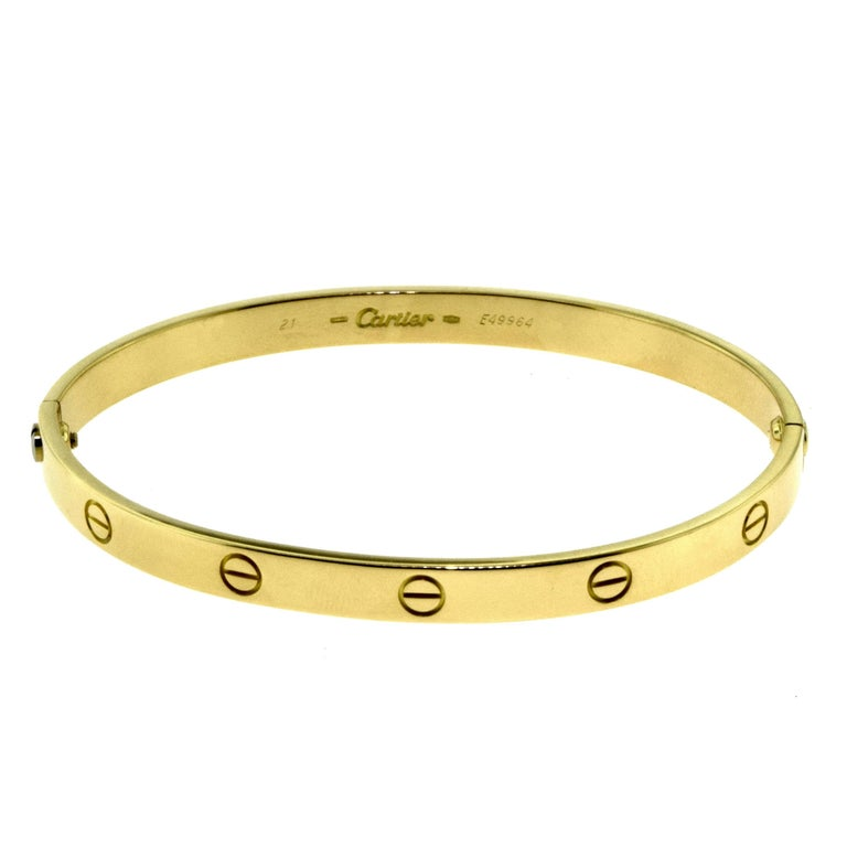Cartier Love Bracelet in 18 Karat Yellow Gold 1