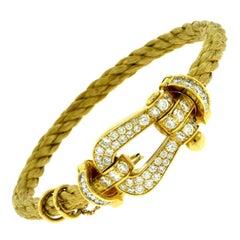 Fred Force10 18 Karat Yellow Gold Bracelet Paved Diamond