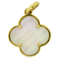 Van Cleef & Arpels Mother-of-Pearl Magic Alhambra 18 Karat Gold Pendant Charm