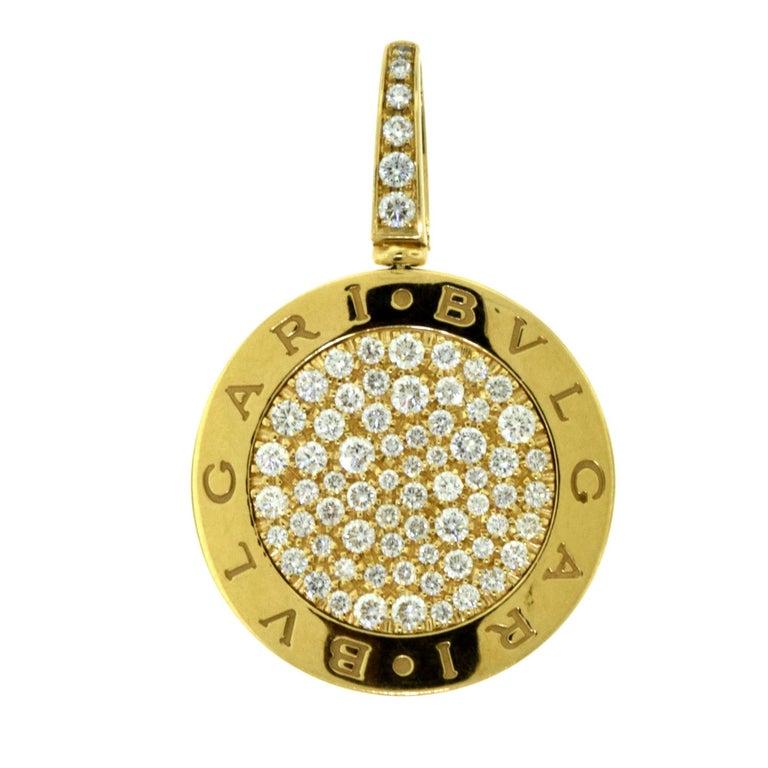 Bvlgari bvlgari bvlgari rose gold pave diamond round pendant for bvlgari bvlgari bvlgari rose gold pave diamond round pendant mozeypictures Gallery