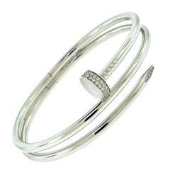 """Cartier Juste Un Clou """"Nail"""" Bracelet in 18 Karat White Gold"""
