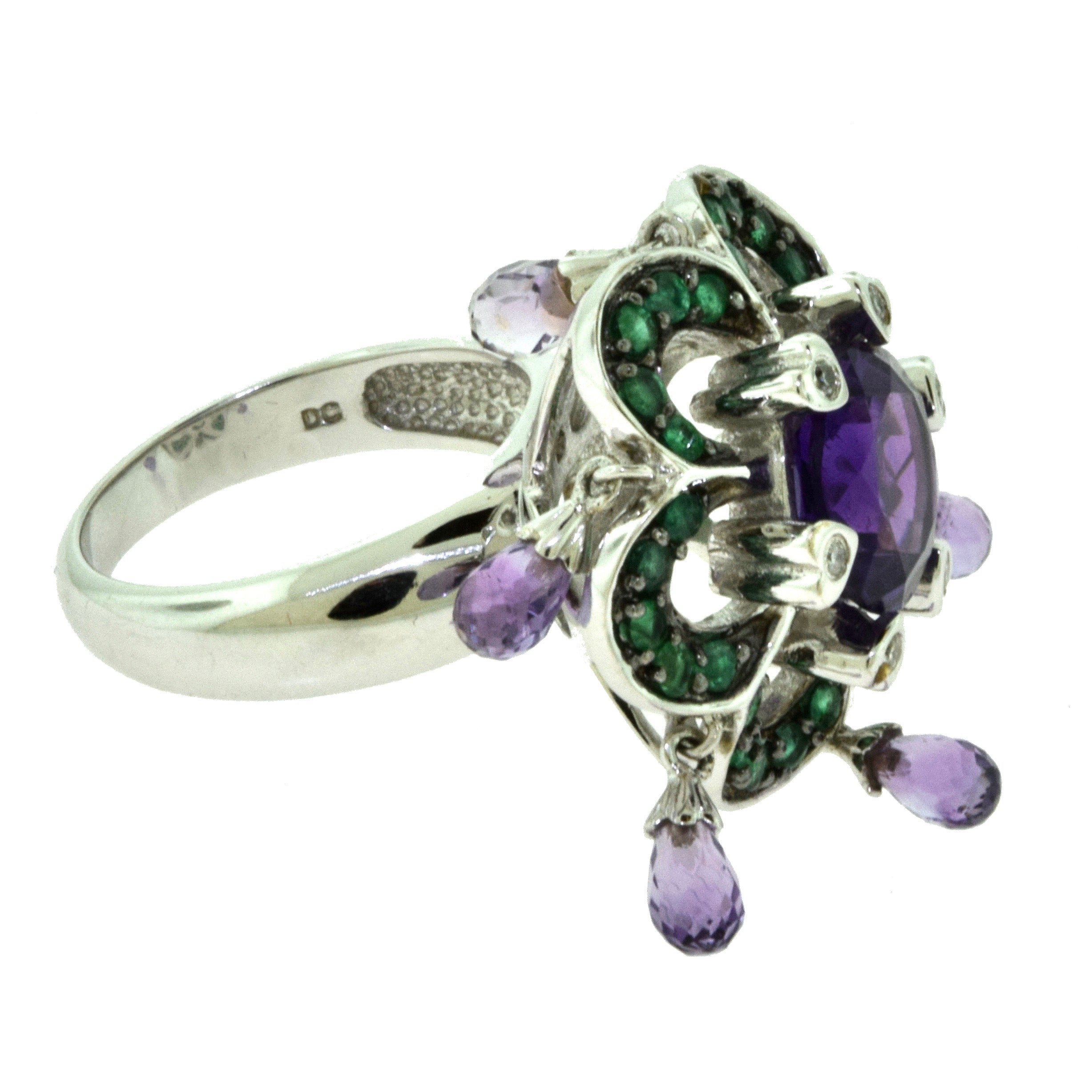 amethyst engagement hires of en pink infinite links rings love us gold london amethist rose ring