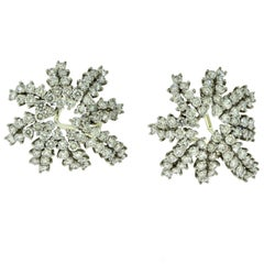 Estate Tiffany & Co. Fireworks Diamond Platinum and White Gold Earrings