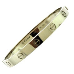 Cartier 18 Karat White Gold Love Bracelet, New Screw
